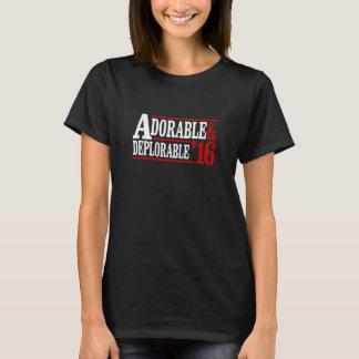 2016 adorável e deplorável - branco -- Eleição 2 Camiseta