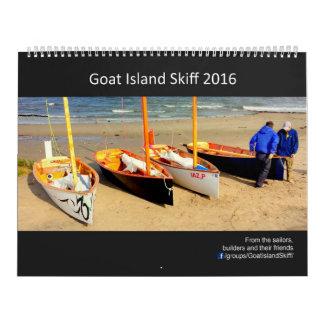 2016 calendário do Skiff da ilha da cabra - 2017