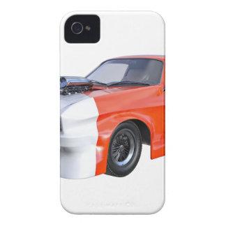 2016 carro alaranjado e branco do músculo capa para iPhone 4 Case-Mate
