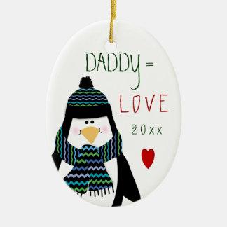 2016 ornamento bonitos do PAI do amor do Natal