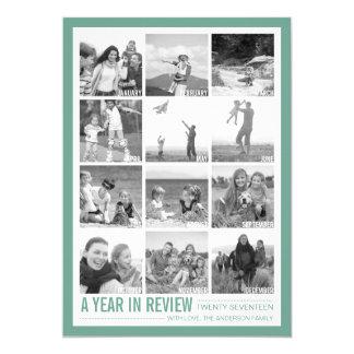 2017 anos no cartão do feriado da colagem da foto