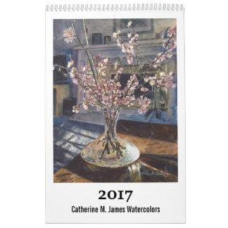 2017 calendário da arte - Catherine M. James