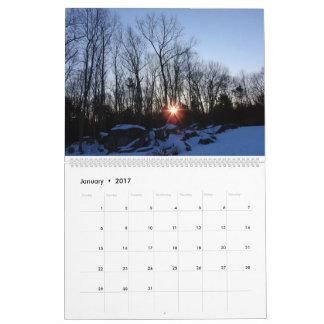 2017 calendário - natureza de New Hampshire por