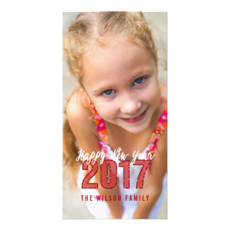 2017 cartão com fotos do feriado do feliz ano novo cartão com foto