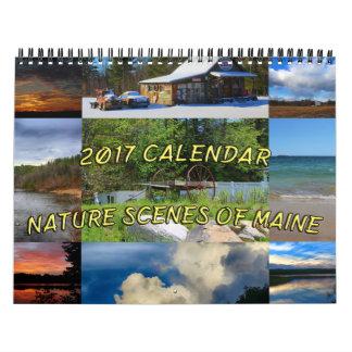 2017 cenas da natureza do calendário de Maine