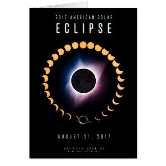 2017 eclipse solar americano - cartão
