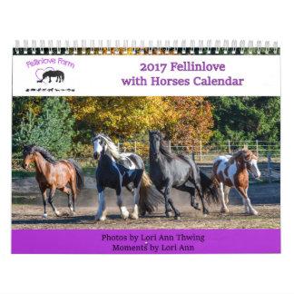 2017 Fellinlove com calendário dos cavalos