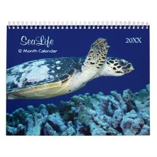2017 peixes marinhos e calendário da vida marinha