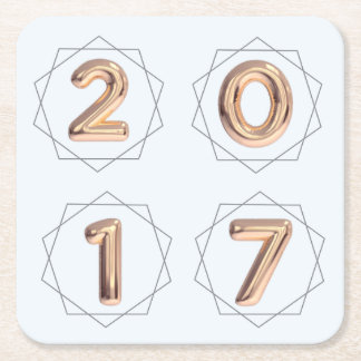 2017 portas copos do balão porta-copo de papel quadrado