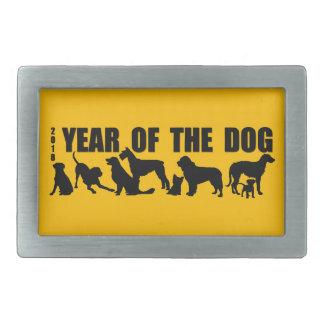 2018 anos novos chineses da fivela de cinto do cão