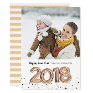 2018 cartão com fotos do feliz ano novo | do