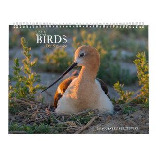 2018 pássaros do calendário da estação