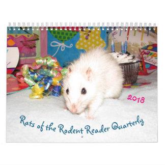 2018 RATOS do calendário B do leitor do roedor