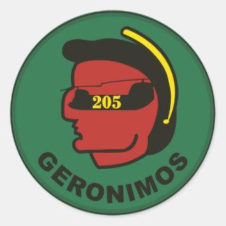 205th Aviação Empresa Adesivos Redondos