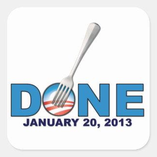 - 20 de janeiro de 2013 - anti Obama feito Adesivo Em Forma Quadrada