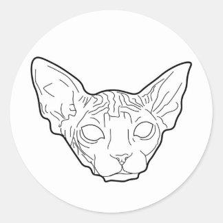 20 etiquetas do gato de Sphynx