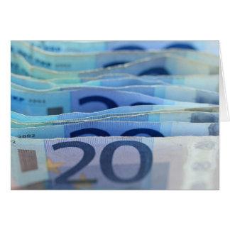 20 euro- contas cartão comemorativo