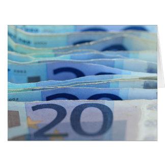 20 euro- contas cartão comemorativo grande