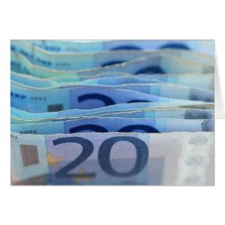 20 euro- contas cartão de nota