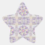 20 máscara macia Embosed - padrões dourados macios Adesivos Em Forma De Estrelas