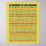 20 razões amar livros de leitura posteres
