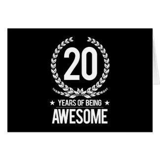 20o Aniversário (20 anos de ser impressionantes) Cartão Comemorativo