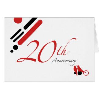 20o Aniversário (pássaros da modificação) Cartão