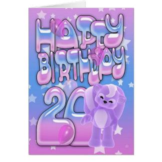 20o Cartão de aniversário bonito com jaritataca