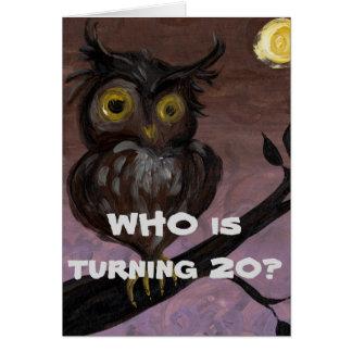 20o cartão de aniversário feliz