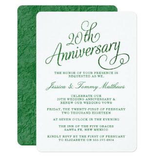 20o Convites esmeraldas do aniversário de
