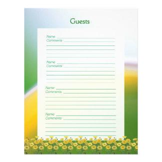 20o Páginas do livro de hóspedes da festa de anive Papel De Carta