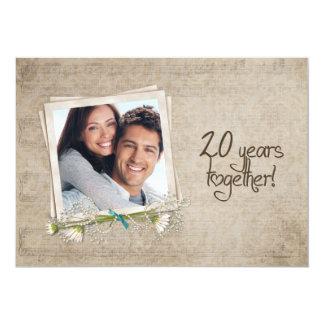 20o Renovação do voto do aniversário de casamento Convite 12.7 X 17.78cm