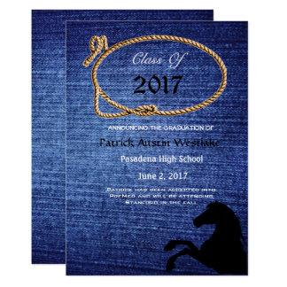 20XX sarja de Nimes, anúncio da graduação do Convite 12.7 X 17.78cm