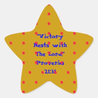 21:31 dos provérbio da etiqueta da estrela do ouro adesivo em forma de estrela