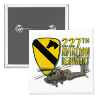227th Regimento Apache da aviação Bóton Quadrado 5.08cm