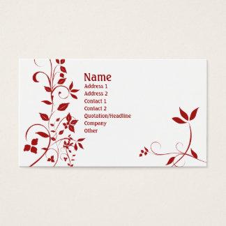 22 florais cartão de visitas