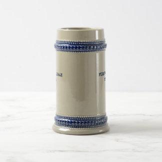 22 onças customizável. Caneca de cerveja alemão da