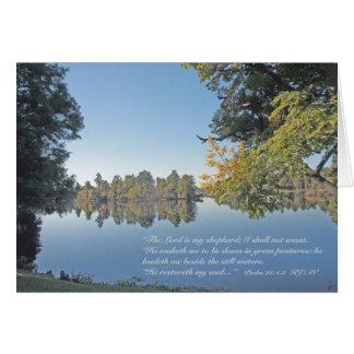 23:1 do salmo - cartão de 3 escrituras