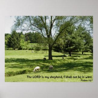 23:1 dos salmos pôster