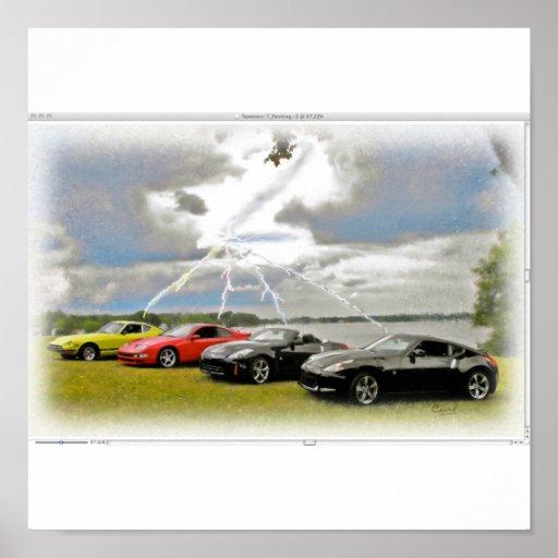 240 a 370 carros de Z Posteres