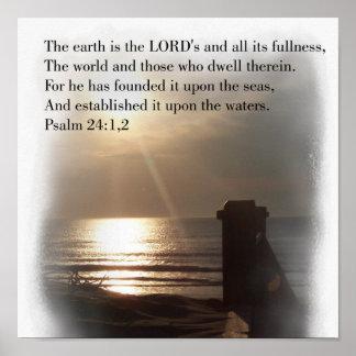 24:1 do salmo poster