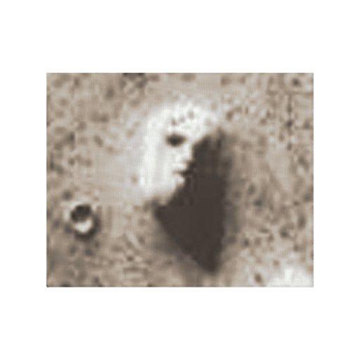 25 de julho de 1976 imagem da que orbita 1 de Viki Impressão De Canvas Envolvidas