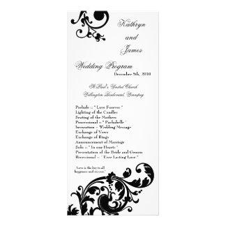 25 filigranas florais brancos do preto do programa modelo de panfleto informativo
