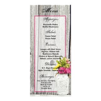 25 frascos de pedreiro dos cartões do menu com 10.16 x 22.86cm panfleto