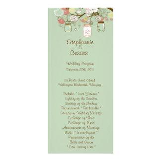 25 frascos de pedreiro florais do primavera do pro 10.16 x 22.86cm panfleto
