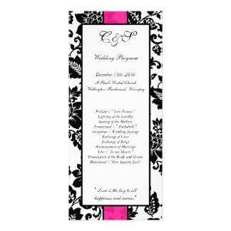 25 programas florais do casamento tema damasco ros planfeto informativo colorido