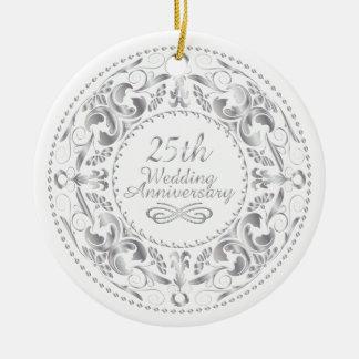 25o Aniversário de casamento - ornamento