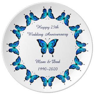 25o Aniversário de casamento pelo storeman. Pratos De Porcelana