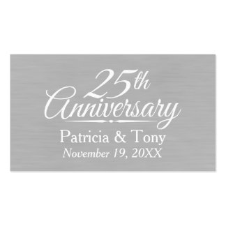 25o Aniversário de casamento personalizado Cartão De Visita