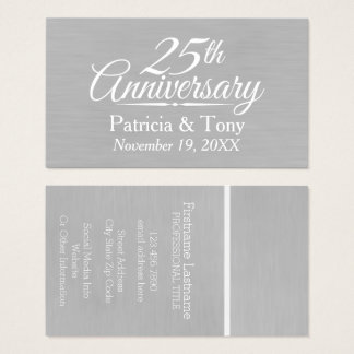 25o Aniversário de casamento personalizado Cartão De Visitas